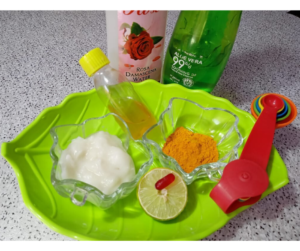 HOMEMADE RICE CREAM FOR SKIN WHITENING