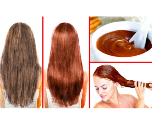 DIY HAIR DYE MASK WITH NATURAL INGREDIENTS