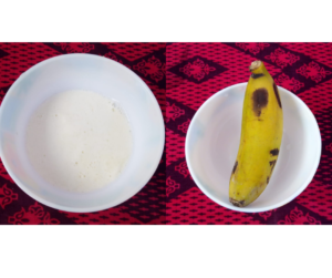 DIY BANANA MASK FOR HAIR STRAIGHTENING